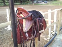 The saddle is ready