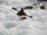 Down the rapids in a kayak!