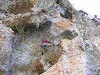 Climb on rock