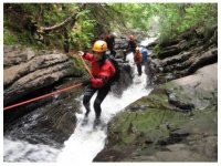 Discese Canyoning gole Fiume Corno