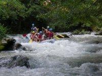 Sui monti Sibillini con il raft