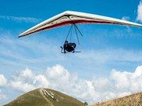 Hang gliding flight
