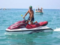 Adventure in water-motorcycle