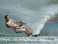 Water skiing in Scalea
