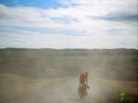 Mountainbike nel verde