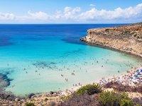 Una magnifica spiaggia dell'isola