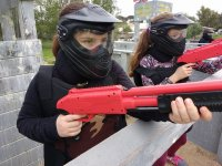 Piccoli giocatori di paintball