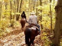 horseback riding on Mount Amiata