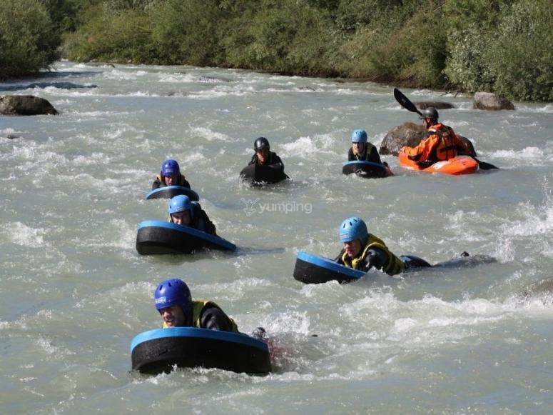 Hydrospeed nel fiume Noce