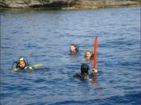 diving in the sea