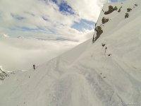 Free Ride sul Monte Bianco ghiacciaio