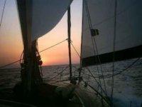 Al tramonto in barca