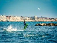 Acrobaties dans l'eau