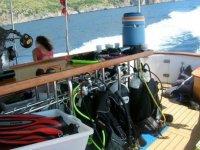 Barca equipaggiata