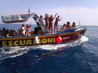 one of our boats with music