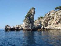 the Taormina rock