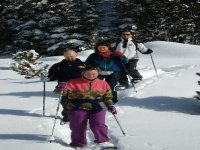 In group with snowshoes