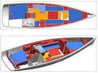 Piantina interna della barca