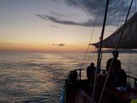 Navigando al tramonto su Rowena