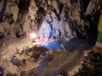 Apericena sulla neve