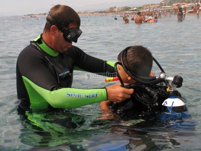 Esperienze subacquee per bambini