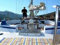 Skipper in barca