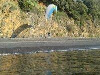 Atterrando sulla spiaggia di Maratea