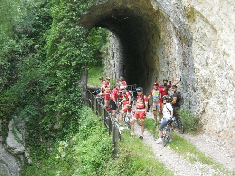 Uno dei gruppi durante l'escursione