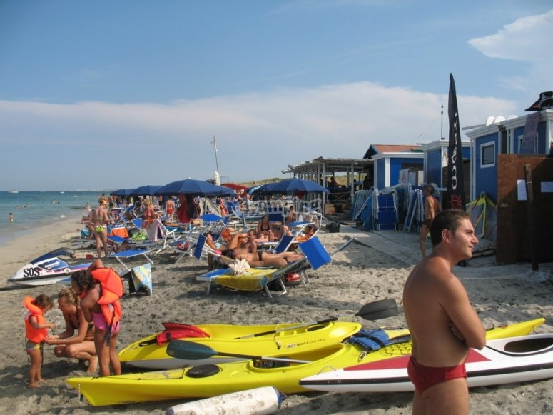 Equipped beach