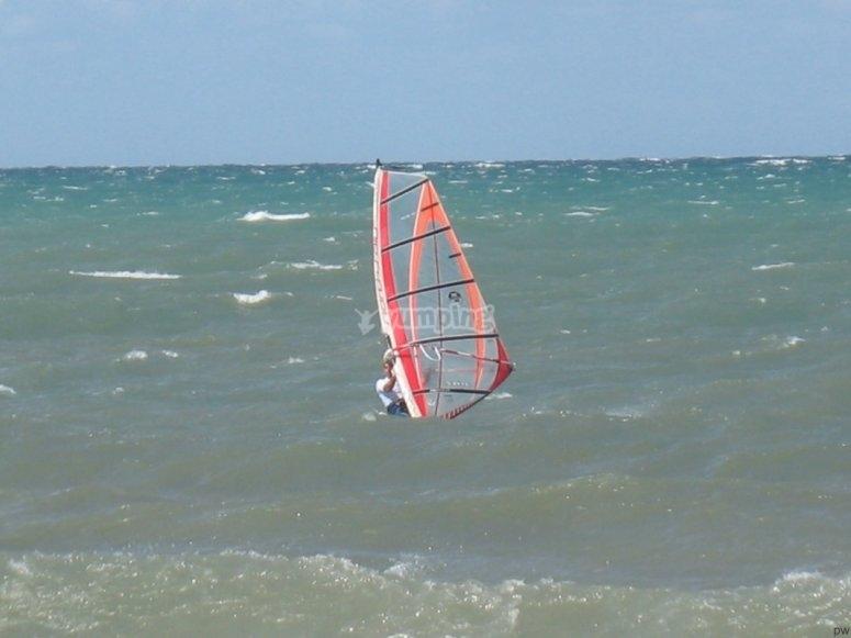 Windsurfing in Vernole