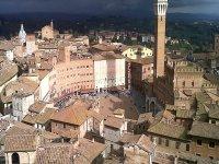 Vista dall'alto di Siena