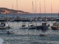 il porto al tramonto