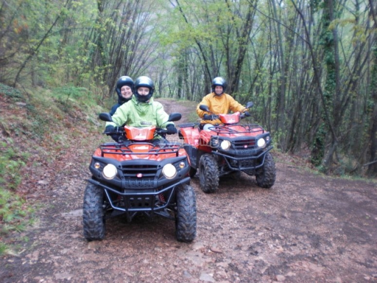 A bordo di un quad in Umbria