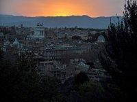 Vista di Roma al tramonto