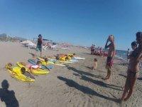 La lezione in spiaggia