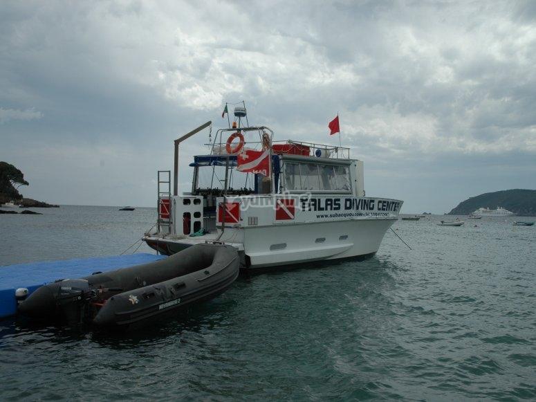 Departure jetty