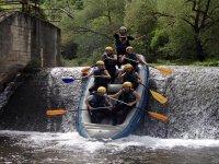 in canoa sulle cascate