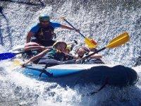 in canoa in Umbria