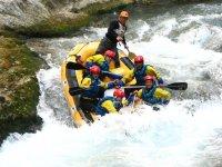 Rafting in gruppo