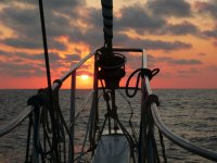 Tramonto dalla barca