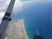 Vista dall'aereo da cui vi lancerete