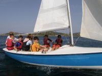 Bring your children to practice sailing