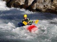 Scuola di kayak fluviale sul Lima