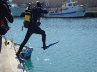 diving courses, entry into the water