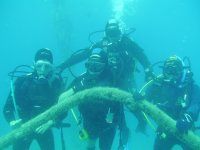diving courses group photo