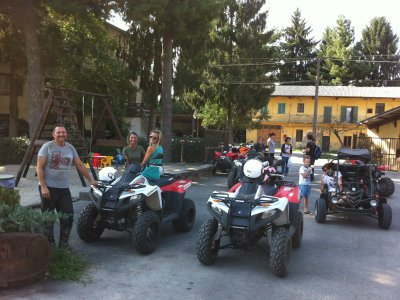 Paintball and short quad on dirt Golasecca 3 hours