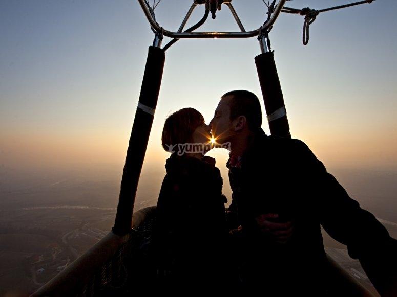 Volo romantico di coppia