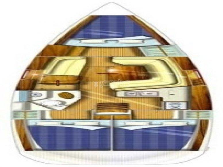 Sun Odyssey 35 - Plan