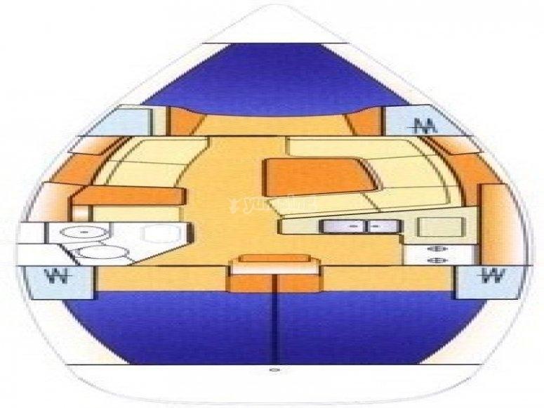 Sun Odyssey 37 - plan