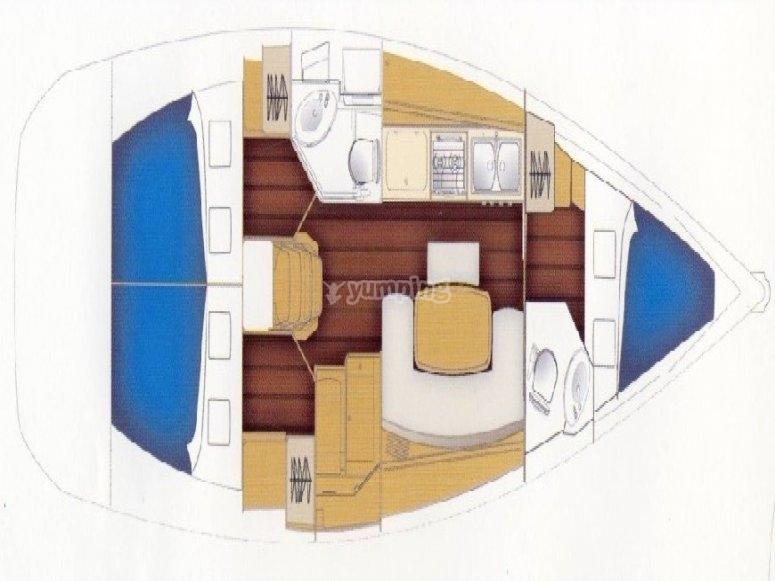 Cyclades 39.3 - plan